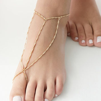 Twisted Foot Chain