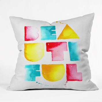 CMYKaren Beautiful Throw Pillow