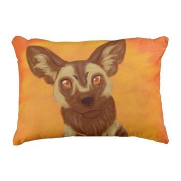 African Wild Dog Outdoor Pillow