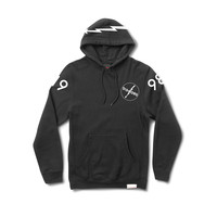 Lightning Pullover Hood in Black