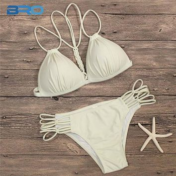 2 Two Piece Bikini BRO Push Up Bikinis Women Swim Suit 2018 Summer Sexy Bandage Swimsuit Two Piece Beach Wear Swimming Suit For Women Bikini Set KO_21_2