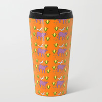 Nguni Cows n Corn Metal Travel Mug by carmenrayanderson
