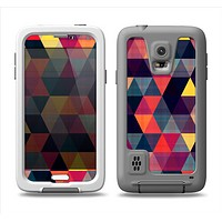The Triangular Abstract Vibrant Colored Pattern Samsung Galaxy S5 LifeProof Fre Case Skin Set