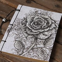 140x170mm Stationery Flowers Rose Retro Notebook Travel Journal Diary Book