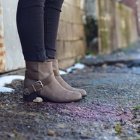 Capital Ladies Booties {Taupe} by Breckelle's