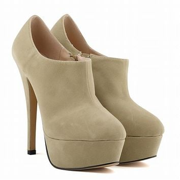 Fashion Fall Winter Ultra High Heel Ankle Boots