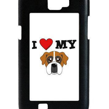 I Heart My - Cute Boxer Dog Galaxy Note 2 Case  by TooLoud
