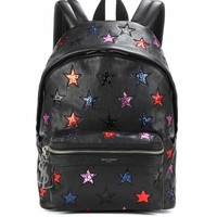 City California Small leather backpack