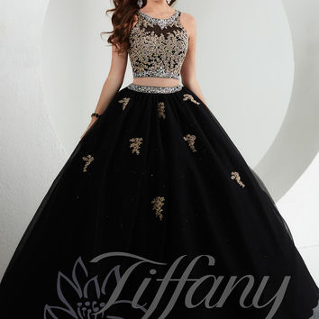 Embellished Crop Bodice Tiffany Designs Prom Dress 61145