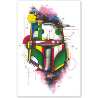Bounty Hunter by HEK Star Wars Jango Boba Fett Helmet Fine Art Print