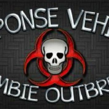 Response Vehicle Zombie Outbreak Decorative Sign Tag License Plate