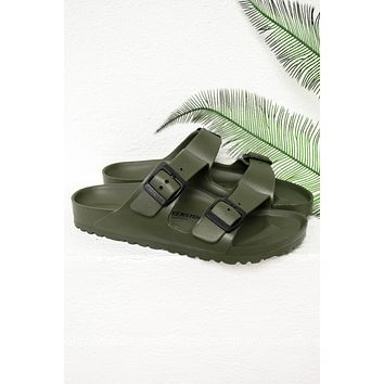 Arizona EVA Birkenstocks | Khaki | Narrow