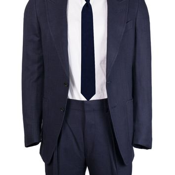 Tom Ford Men's Solid Navy Textured Shelton Two Piece Suit