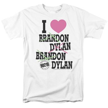 90210 T-Shirt I Love Brandon and Dylan White Tee