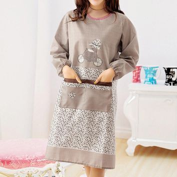 Household Anti Dirty Long Sleeve Cooking Apron