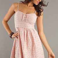 Short Spaghetti Strap Pink Dress