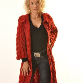 Red knitted coat (Custom)