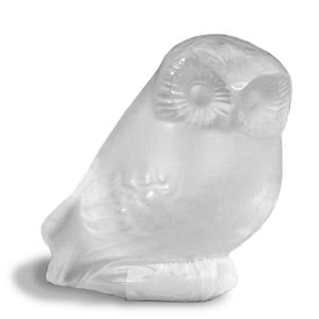 Lalique Owl Nyctal Clear Crystal 11757
