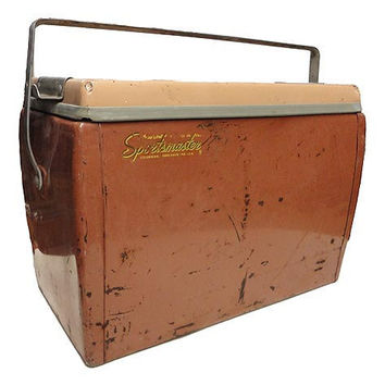 Vintage Metal Cooler Vintage Ice Chest by AGoGoVintage on Etsy