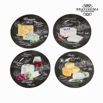 Set of 4 cheese dishes - Kitchen's Deco Collection by Bravissima Kitchen