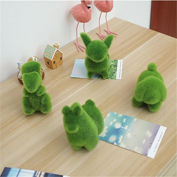 Animal Shape Simulation Green Grass Ornaments
