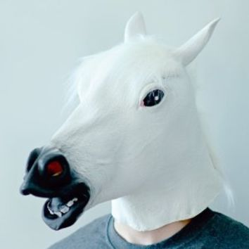 White Horse Head Mask by Off the Wall Toys
