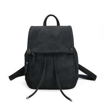University College Backpack SUMOKO Female  Wind  Women's trend PU leather bag Fashion solid color ladies bag Girl leisure travel AT_63_4