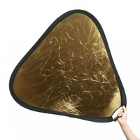 "Fancierstudio Handheld Photography Studio Video Reflector 32"" Gold Reflector Silver Reflector By Fancierstudio 2014GS"