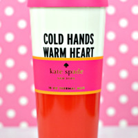 kate spade new york: thermal mug - warm heart