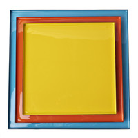Fab: Enamel Tray Square Set Of 3