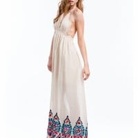 Boho Queen Embroidered Maxi Dress - GoJane.com