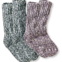 Women's Cotton Ragg Camp Socks,Two-Pack | Free Shipping at L.L.Bean