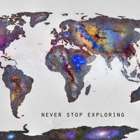 Star map. Never stop exploring... Canvas Print by Guido Montañés