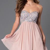 Short Strapless Sweetheart Dress by Sequin Hearts