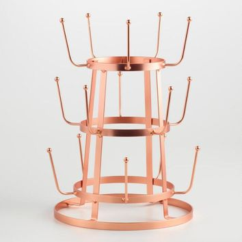 Copper 3 Tier Glass Drying Rack
