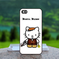 Daryl Kitty Cute Hello Kitty - Photo Print in Hard Case - For iPhone 4 / 4s Case , iPhone 5 Case - White Case, Black Case (CHOOSE OPTION )
