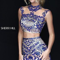 Jewel Embellished Two Piece Sherri Hill Dress