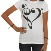 Music Clef Heart Girls T-Shirt