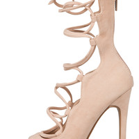 Allie Lace Up Heel (Nude)- FINAL SALE