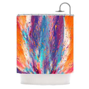 "Danny Ivan ""Colorful Fire"" Cool Fire Shower Curtain"
