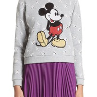 MARC JACOBS Embellished Mickey Shrunken Sweatshirt | Nordstrom