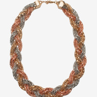 Geometric Chain Braid Short Necklace