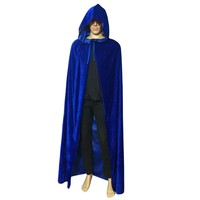 New Cloak Velvet Hooded Cape Medieval Renaissance Costume Xmas Vampire Fancy Dress