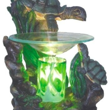 Turtles Table Fragrance Aroma Lamp Oil Diffuser Wax Tart Candle Warmer Burner Home Decor