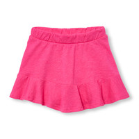 Toddler Girls Matchables Solid Ruffle Knit Skort | The Children's Place