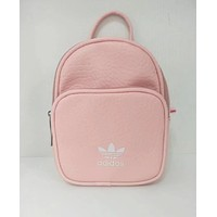 Adidas Fashion Women College Leather Satchel Bookbag Backpack Double Shoulder Bag Pink I-A30-XBSJ