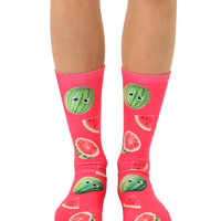 Googly Watermelons Crew Socks