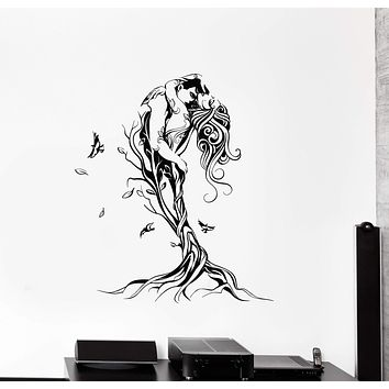 Vinyl Wall Decal Abstract Love Couple Tree Bedroom Art Decor Stickers Mural Unique Gift (ig5189)