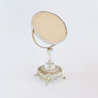 Shabby Antique Vanity Stand Mirror