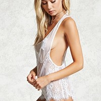 Sheer Lace Teddy